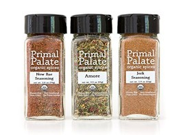 Primal Palate Organic Spices - Food Lovers Pack 3-Bottle Gift Set - £31.53 GBP