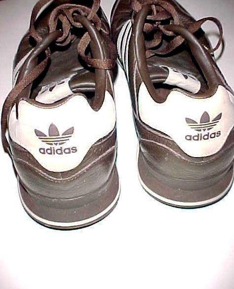 newest dd882 74e73 ... adidas ZXZLEA Three Stripes Trefoil Men s Brown Leather Sneakers Tennis  Shoes ...