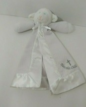 Mary Meyer white Lamb plush security blanket baby lovey Bless this Child - $8.90