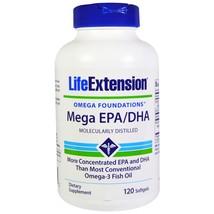 4 PACK Life Extension Omega Foundations Mega EPA/DHA 120 sgels fish oil FRESH - $45.00