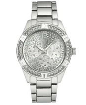 I.N.C. Men's 44mm Silver Tone Dial with Crystals Link Bracelet Wrist Watch NIB