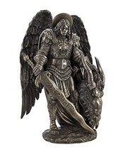 Pacific Giftware Saint Michael Slaying The Evil Dragon Mighty Warrior and Protec - $59.99