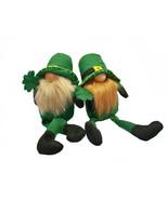"Leprechaun Gnome Boys T3957 Pair Holding Shamrock 12"" H - $38.61"