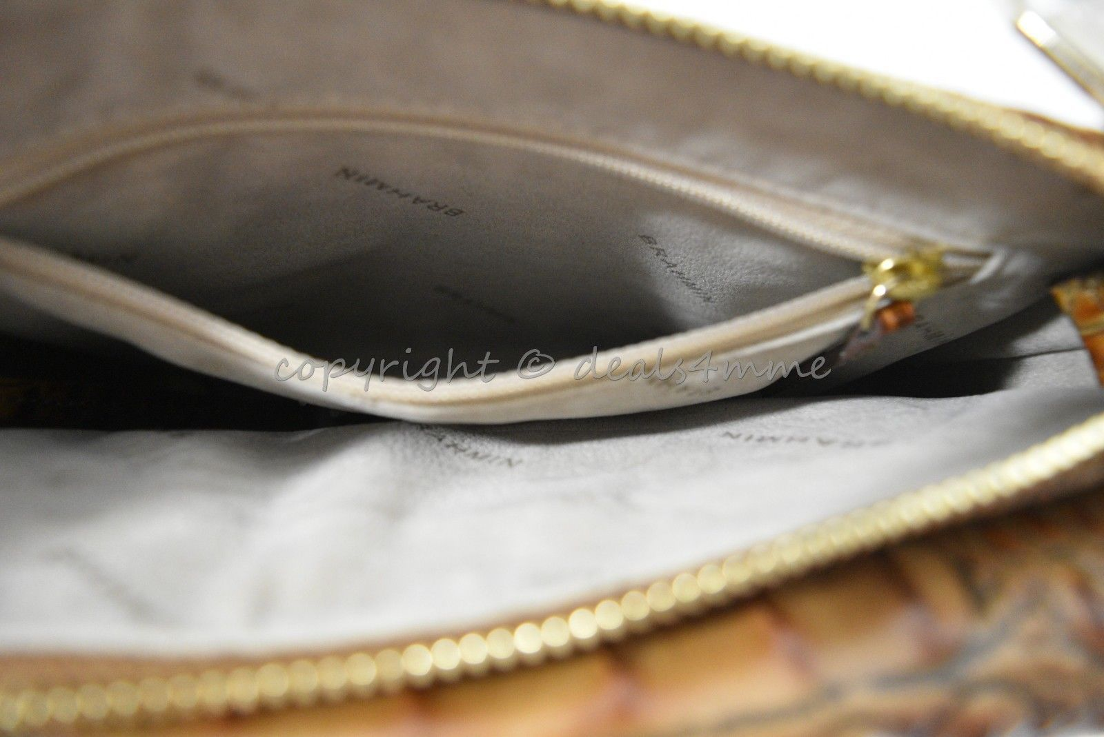NWT Brahmin Manhattan Leather Shoulder/Crossbody Bag in Toasted Almond Melbourne image 3