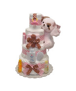 Wiggles Lullaby Baby Girl Diaper Cake 4 Tiers - $160.00