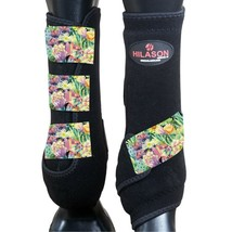 Xl - Hilason Horse Medicine Sports Boots Front Leg Black U-S-XL - $65.33