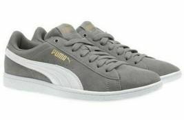 Nuovo Puma Donne Camoscio Vikky Grigio Tennis Palestra Scarpe Sneakers