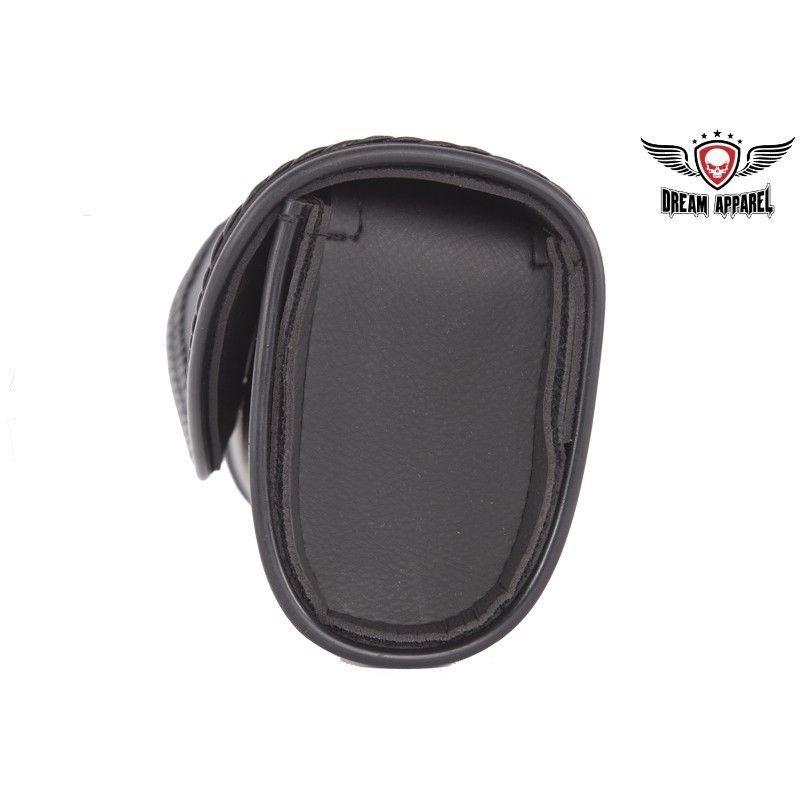 Motorcycle Windshield Bag Leather Waterproof Braided Harley Sportster Softail image 3