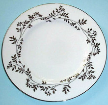 "Lenox Jonquil Accent Luncheon Plate Platinum Trim 9.25"" New - $16.90"