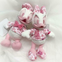 Tokyo Disney Resort Donald Duck & Daisy Stuffed badge pair set Cherry Bl... - $76.23