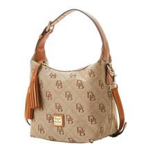 Dooney & Bourke Womens Brown Monogram Maxi Quil Pagie Crossbody Bag 8858-4 - $265.32