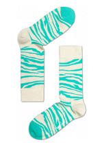 Happy Socks Unisex Combed Cotton Crew Animal in Cream/Green - $10.80