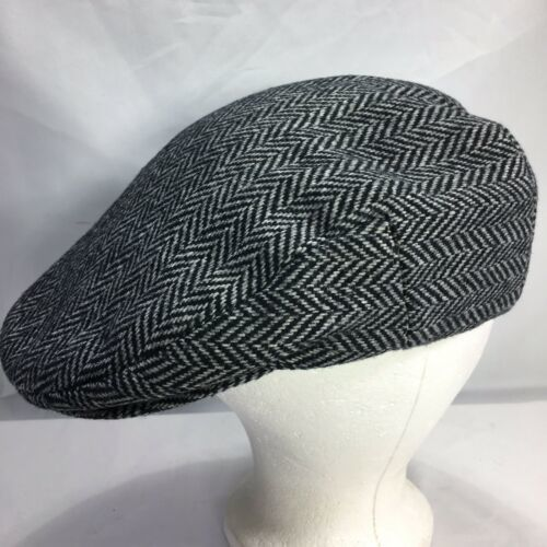 DORMAN PACIFIC DPC Gatsby Newsboy Cabbie Hat Cap Herringbone Wool Blend Medium image 2