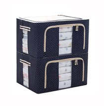 Stackable Storage Box Steel Frame Shelf Quilt Clothing Blanket Pillow Or... - $80.42 CAD