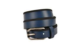 Emporio Armani Womens Y4S021 Belt Genuine Leather 86616 Blue Size 48 - $56.63