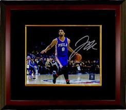 Jahlil Okafor signed Philadelphia 76ers 8x10 Photo Custom Framed (horizo... - $74.95