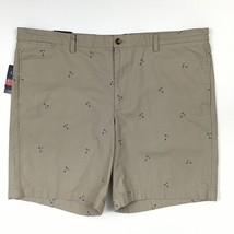 Chaps Martini Glasses Shorts Size 42 Khaki Beige Stretch Your Limits Flat Front - $29.69