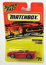 Matchbox 1995 Mustang Cobra Red #71 New Mint on Card MOC MOSC - $2.56