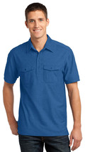 Port Authority K557 Men's Double Pocket Polo Shirt - Marina Blue/True Navy - $22.78+