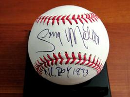 GARY MATHEWS NL ROY 1973 GIANTS PHILLIES SIGNED AUTO OML BASEBALL JSA BE... - $69.29