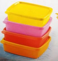 Tupperware Cool N Fresh Plastic Container Set, 250ml, Set of 4, Multicolour - $39.99