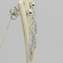 Boucles D'Oreilles Pendantes or Blanc 750 18K Poli et Percé avec Roses en Italy image 2