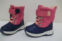 GIRLS CARTERS LUNAR PINK BLUE SNOW WINTER BOOTS 7 TODDLER - $17.99