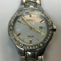 Seiko Core Solar Mother of Pearl Dial Ladies Watch SUT282 - $79.19