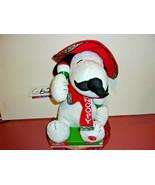 Peanuts Animated Snoopy Plays Feliz Navidad Holding Maracas - $32.99