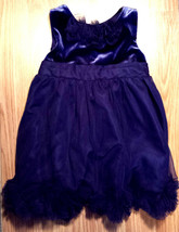 Girl's Size 18 M 12-18 Months Blue Velour/ Satin/ Crepe Floral Cherokee ... - $20.10