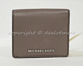 NWT Michael Kors Bedford Carryall Card Case in Cinder Grey Pebbled Leather - $79.00