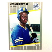 Ken Griffey Jr 1989 Fleer Rookie Card #548 MLB HOF Mariners Reds White Sox - $5.89