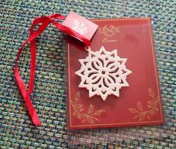 Lenox Pierced Star Snowflake Charm Christmas Holiday Ornament  NIP - $5.00