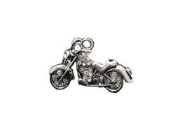 Motorcycle Clear Crystal Charm Only Jewelry Assembly Beads Craft Supplies Biker - $8.65