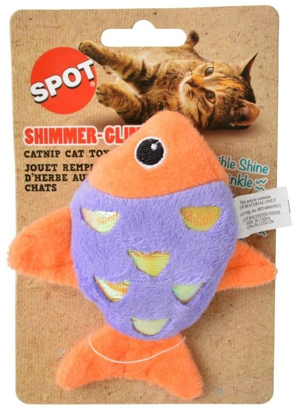 SPOT SHIMMER GLIMMER OR FELT CATNIP TOYS PLAY TURTLE BUTTERFLY FISH MOUSE image 9