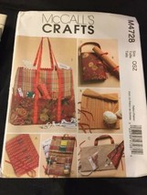 2004 McCall's Sewing Pattern M4728 Knitting & Sewing Organizers Uncut - $5.23
