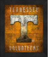 """Tennessee Volunteers """"Retro College Logo Map"""" 13x16 Framed Print  - $39.95"""