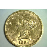 1894 TEN DOLLAR LIBERTY GOLD UNCIRCULATED+ UNC.+ NICE ORIGINAL COIN BOBS COINS - $945.00