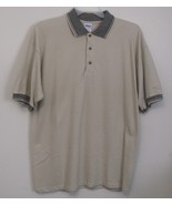 Mens Gildan NWOT Beige Short Sleeve Polo Shirt Size Large - $15.95