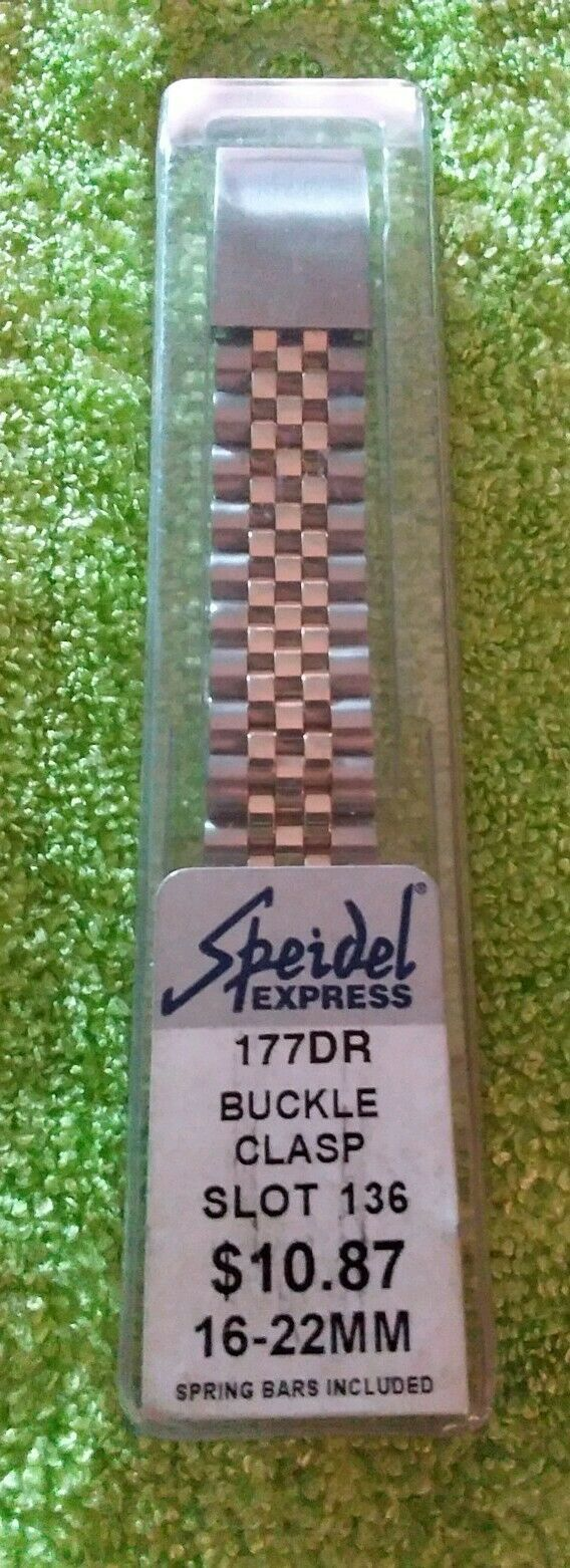 Primary image for SPEIDEL 177DR BUCKLE CLASP 16-22MM TWO TONE METAL WATCH BAND. NEW! Free S&H