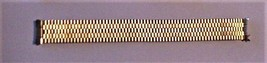 """NOS Vintage Gold-tone Top Stainless Steel Watch Band Unbranded 6 1/4"""" - $24.95"""