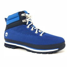 Timberland Men's Knit Mesh Blue Euro Hiker Hiking Ankle Boots A1IGT - $143.06 CAD