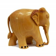 Handcrafted Wood Carving Ashok Pillar on Wooden Base 8 Inch Height - $29.13