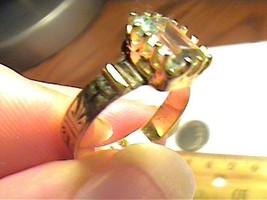 AQUAMARINE AQUA ring ANNIVERSARY SOLITAIRE STERLING 925 natural real small - $40.37