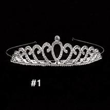 Korean Rhinestone Crystal Princess Girl Tiara and Crown Bride Noiva Diad... - £6.42 GBP