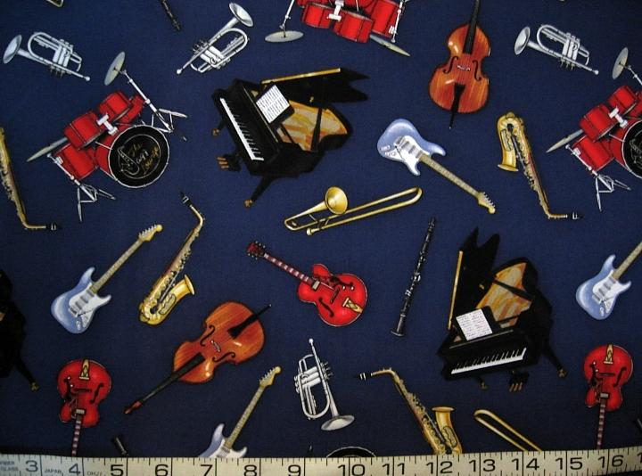 Music jazz lounge instruments navy tt4929