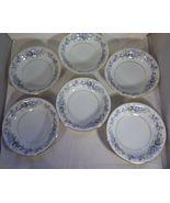 """Noritake 6 Sauce Fruit Bowls - China Ramona Pattern Blue Flowers 5.5"""" Vintage  - $8.75"""