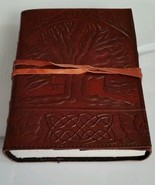 "Leather Journal SACRED OAK TREE with Leather Cord 5""×7"" 240 pages Unlined - $24.49"