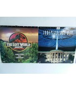 INDEPENDENCE DAY & JURASSIC PARK WIDESCREEN LASERDISKS - FREE SHIPPING - $18.70