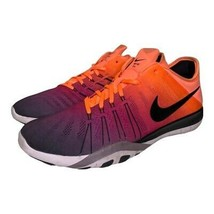 Nike Womens Free TR 6 Running Shoes Orange Purple 849804-800 Ombre Knit 11M - $44.54